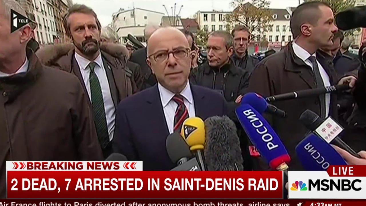 Two dead, seven arrested in French raid