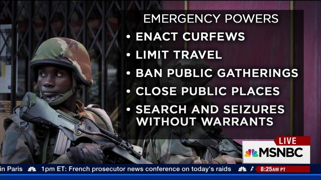 Bill to extend state of emergency in France