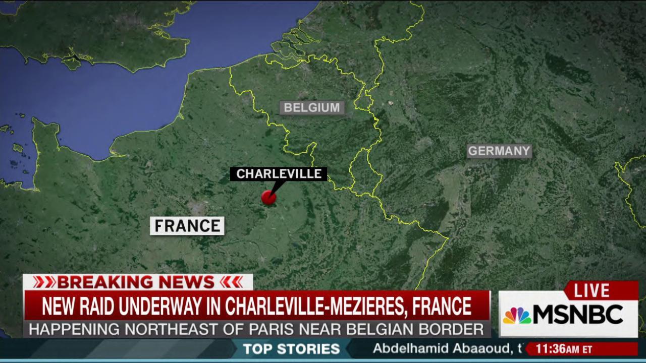 New raid happening near Belgian border
