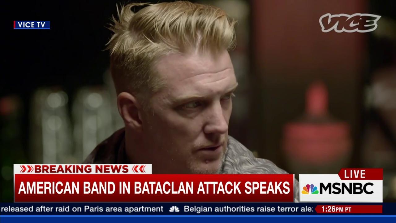 American band in Bataclan attack speaks out
