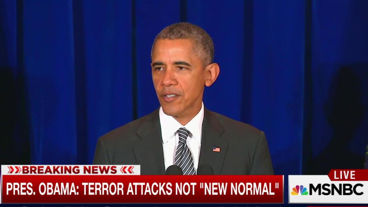 Obama: Terror attacks not 'new normal'