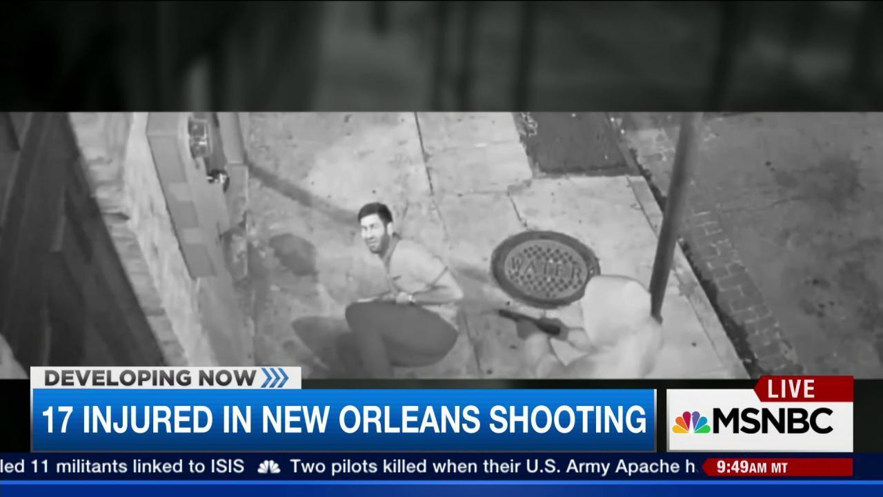 Manhunt underway for New Orleans shooter