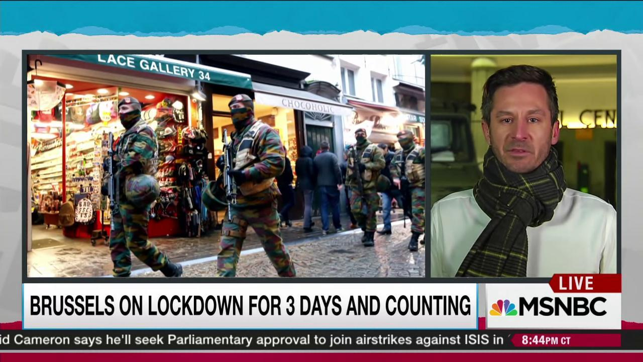 Anticipating terror, Brussels on lockdown