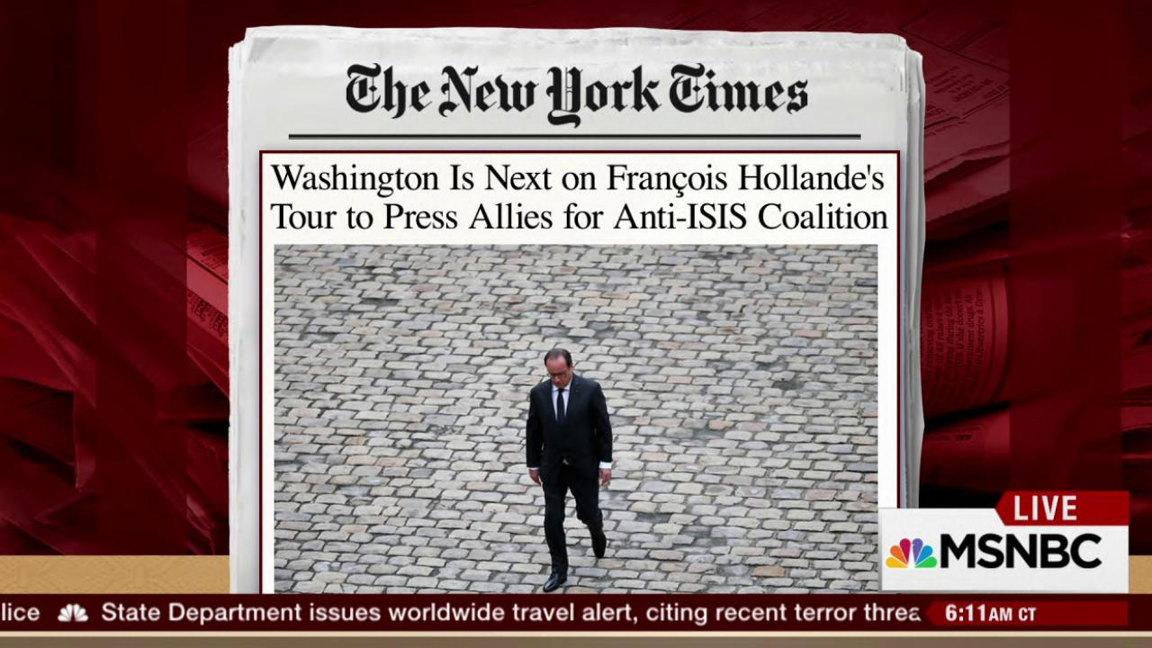 Hollande set to meet with Obama on ISIS
