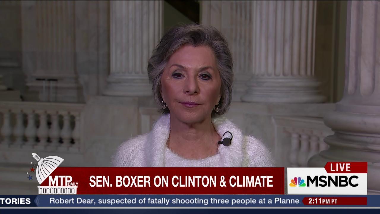 Sen. Barbara Boxer on Hillary Clinton