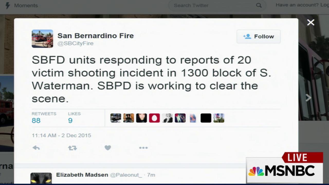San Bernardino police confirm active shooter