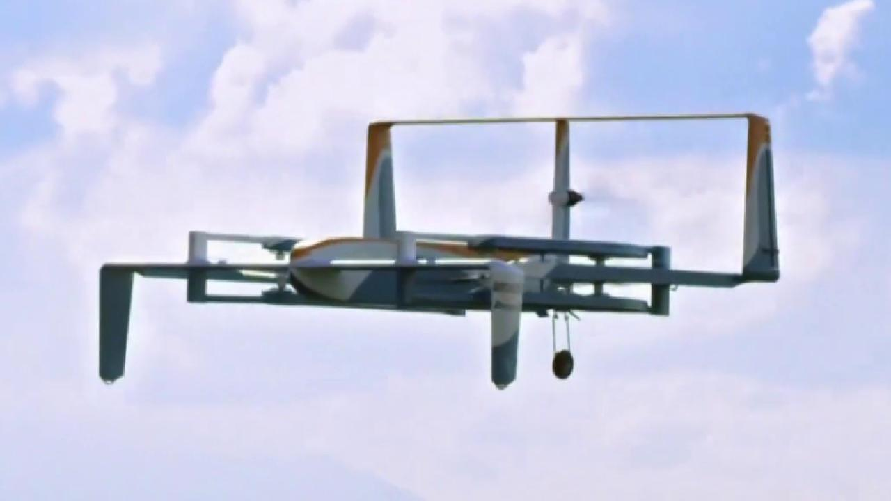 Amazon's drone takes a real-life test drive