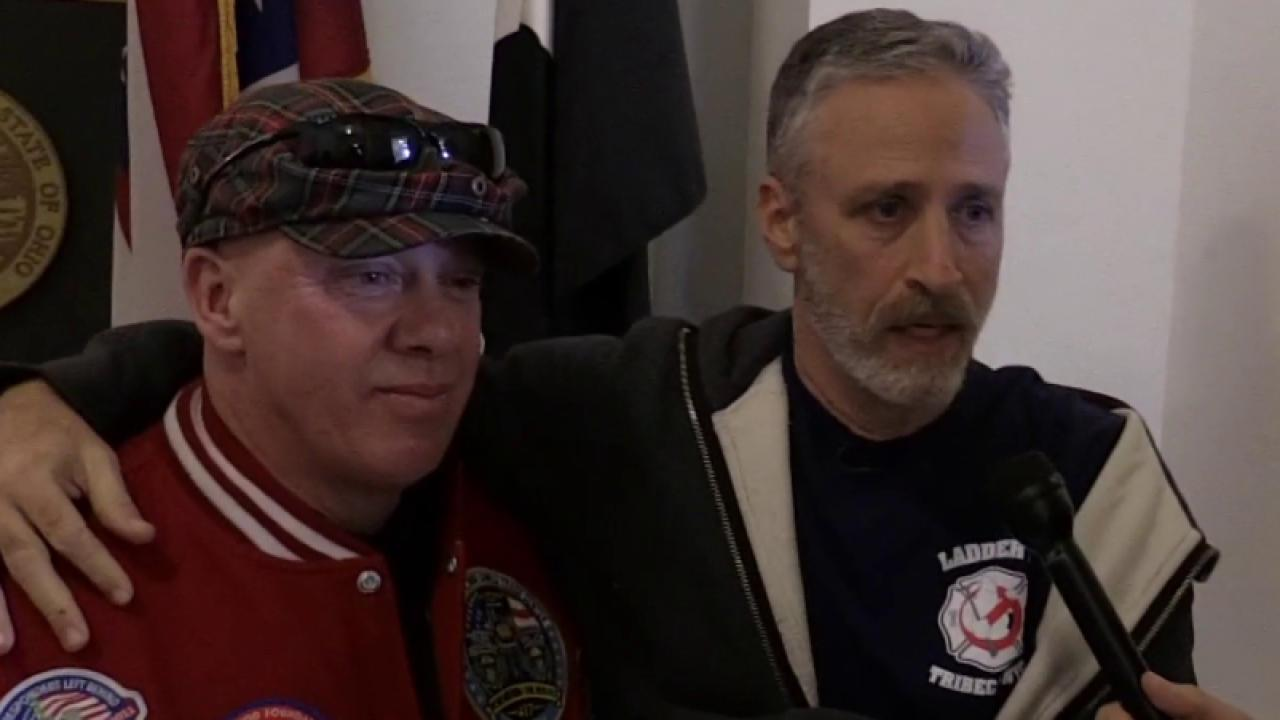 Stewart continues fight for first responders