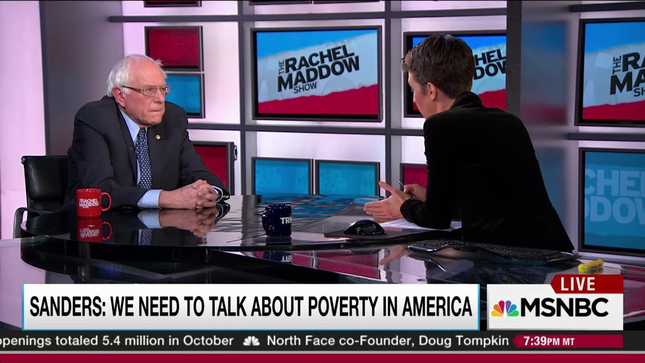 Sanders: hopeless poverty threatens democracy
