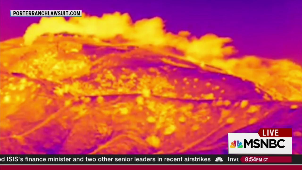 Special cameras make massive gas leak visible