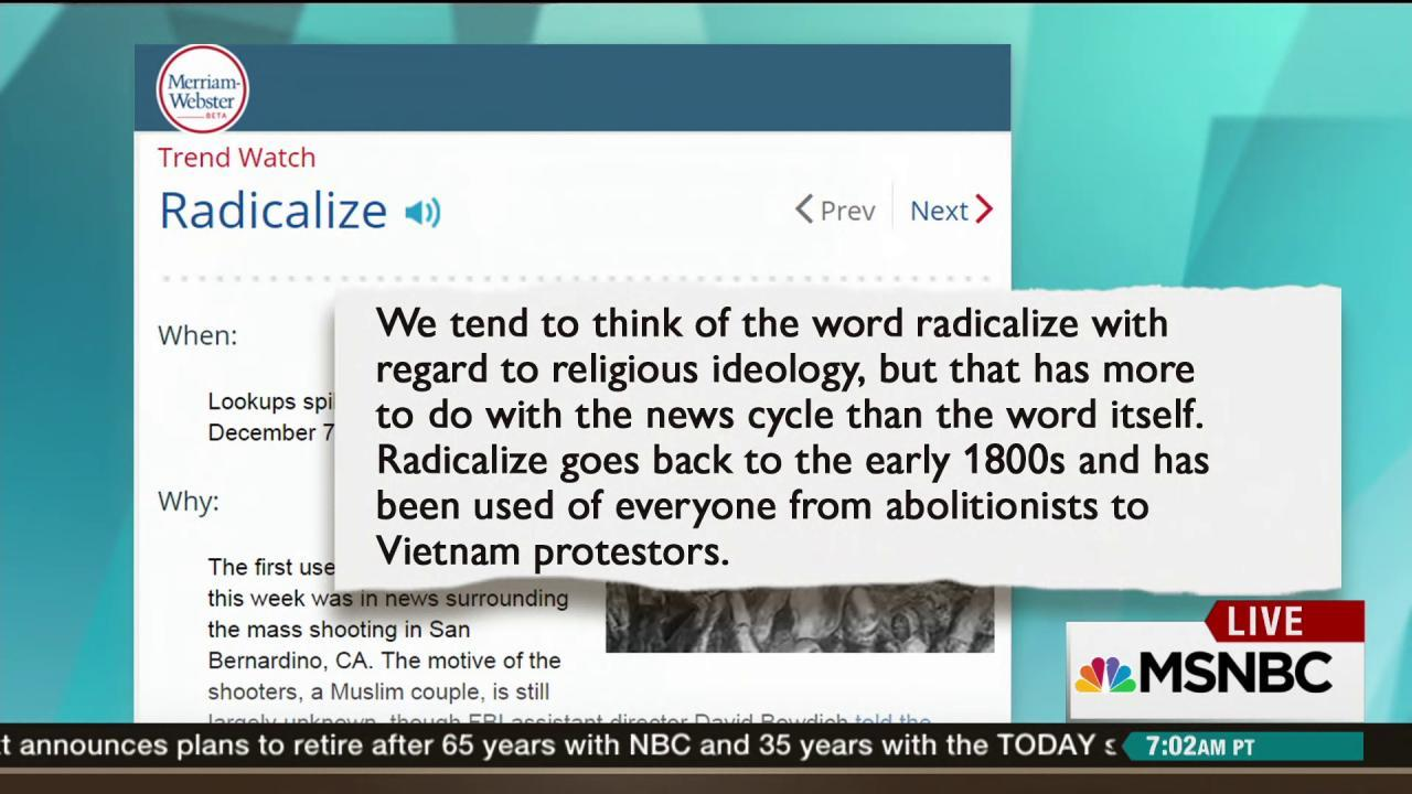 What does it mean to be radicalized?