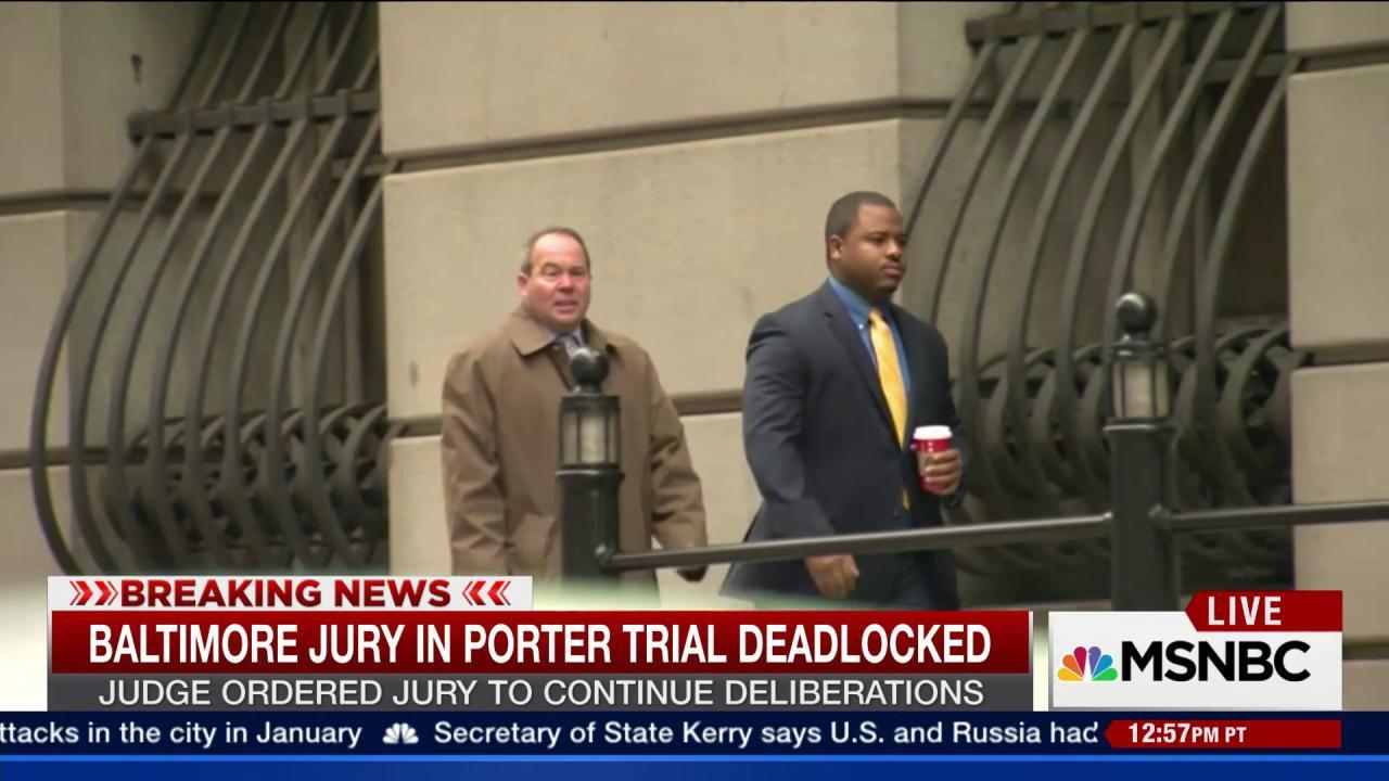 Baltimore Jury in Porter Trial Deadlocked