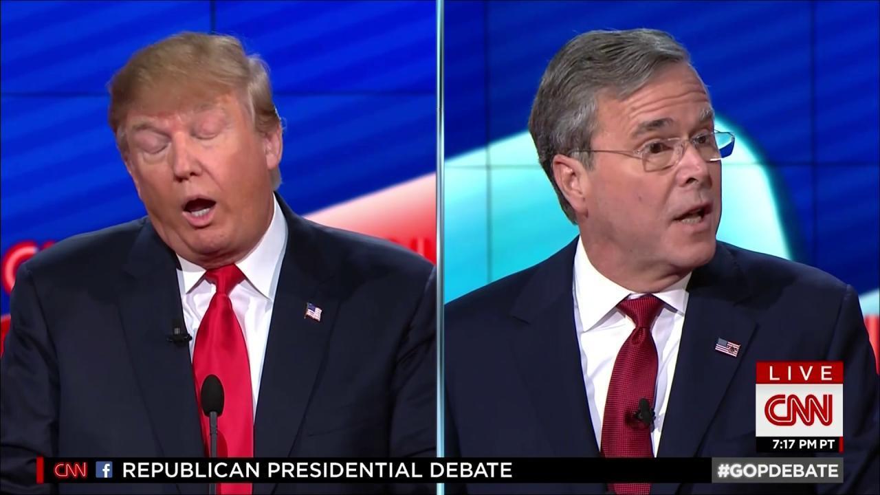 Trump, Bush exchange turns nasty