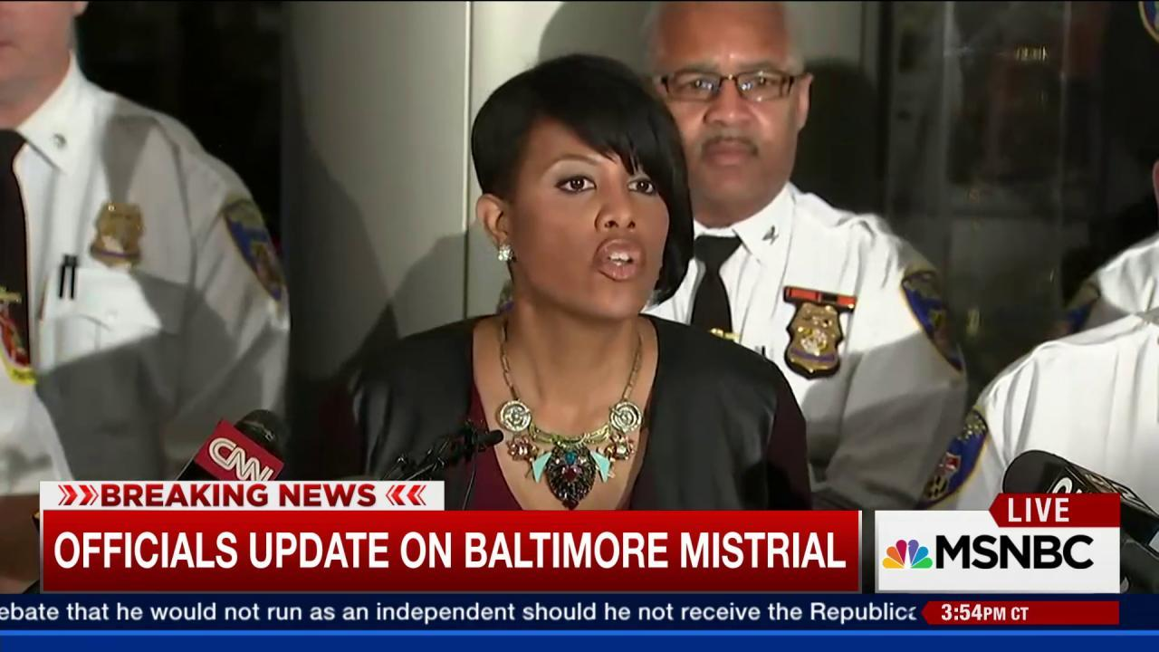 Mayor calls for peace after Baltimore...