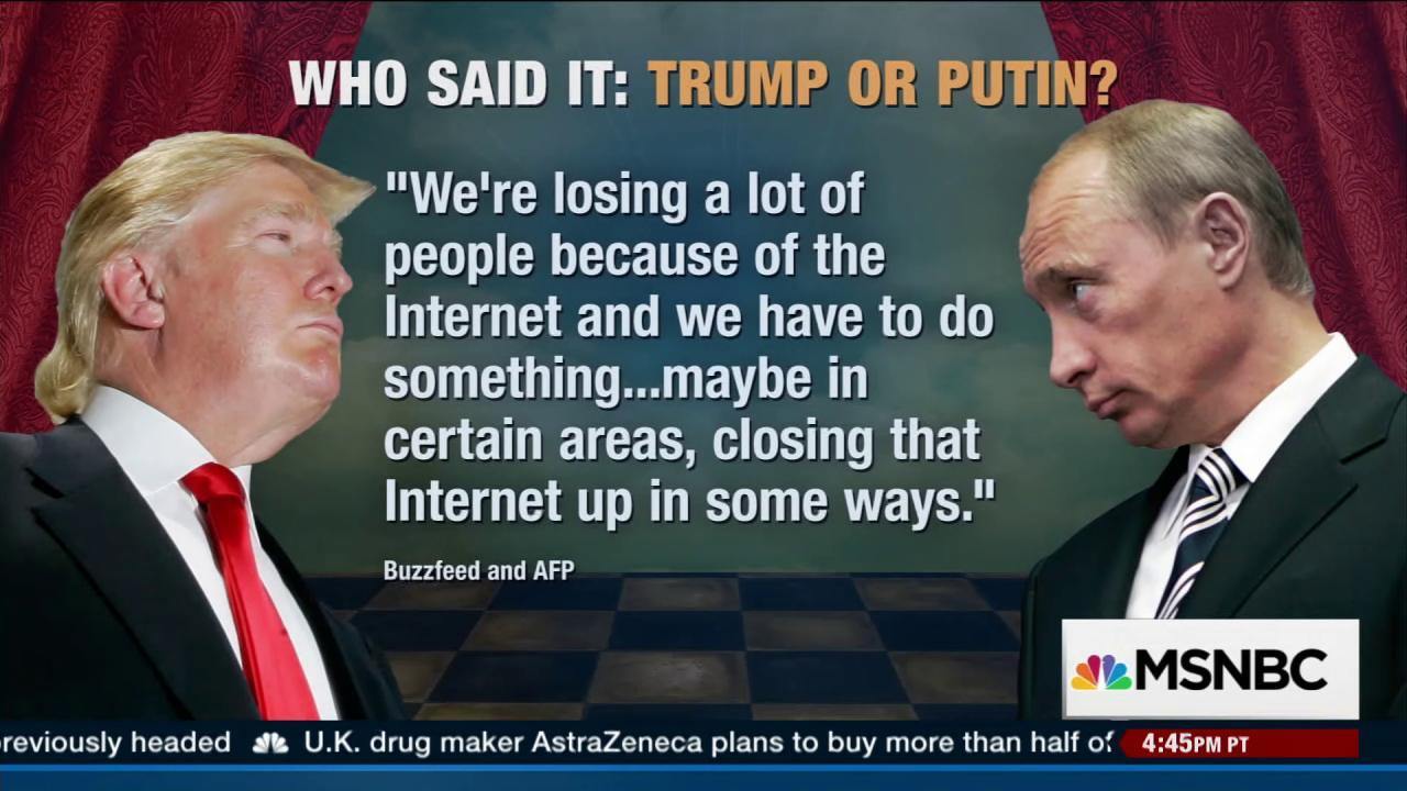 Putin: Trump is bright, talented person