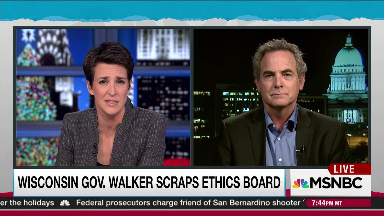Walker dismantles elections and ethics board