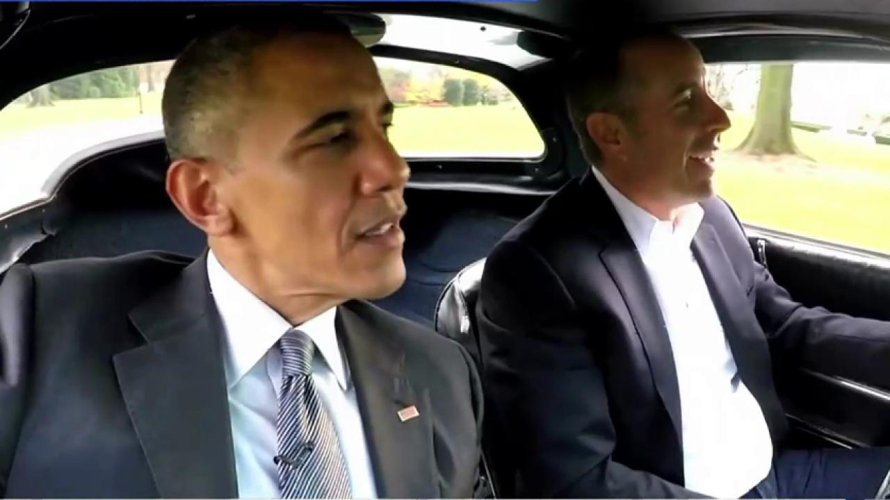 Obama stars in opener of Seinfeld series