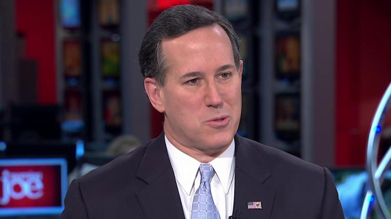 Santorum: Cruz is great at elevating himself