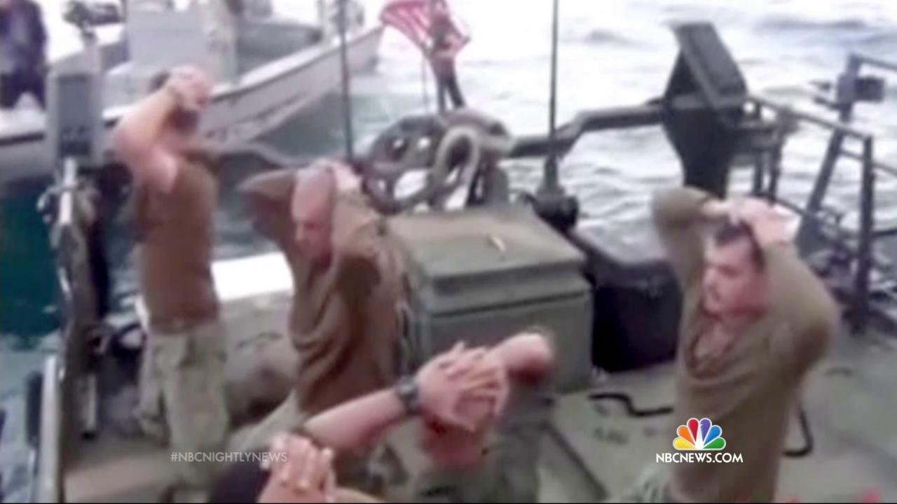 U.S. Sailors Detained by Iran Are 'Safely Returned'