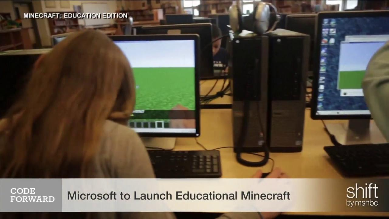 Microsoft to launch educational 'Minecraft'