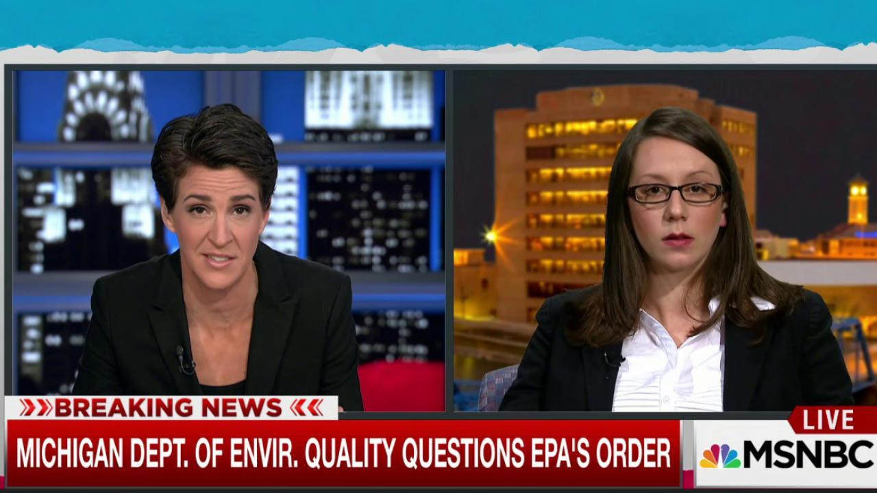 Michigan pushes back on EPA's Flint order