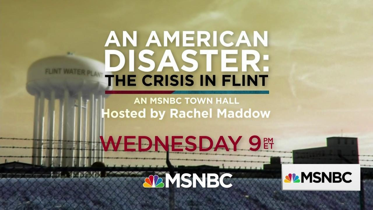 The Rachel Maddow Show traveling to Flint