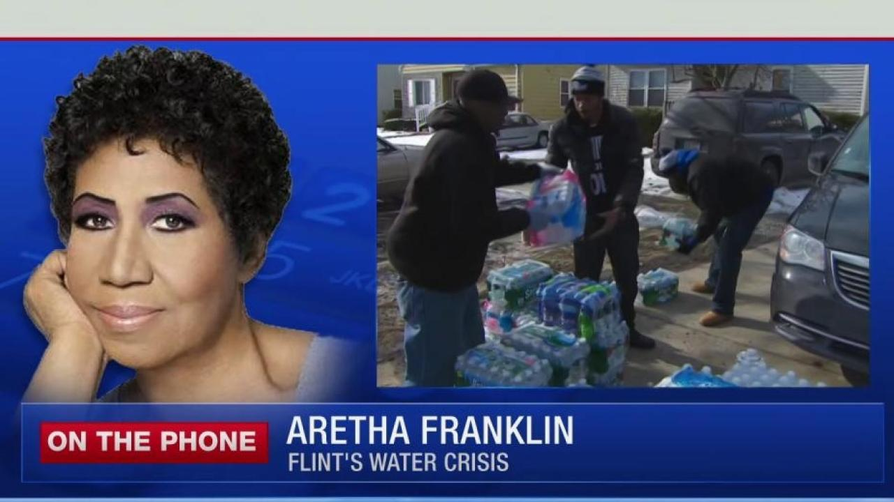 Aretha Franklin donates housing, food to...