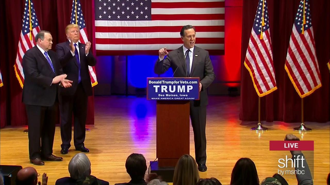 Santorum talks PTSD at Trump's veteran event