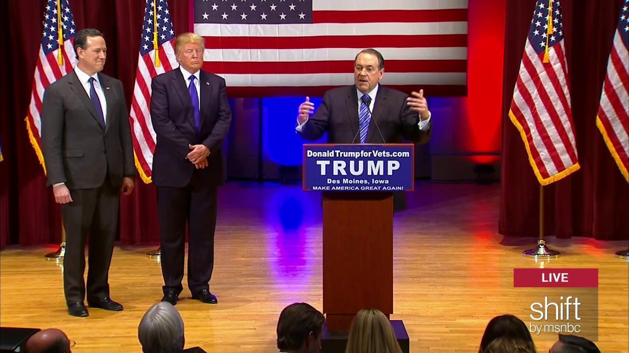 Huckabee: I'm grateful to Trump for...