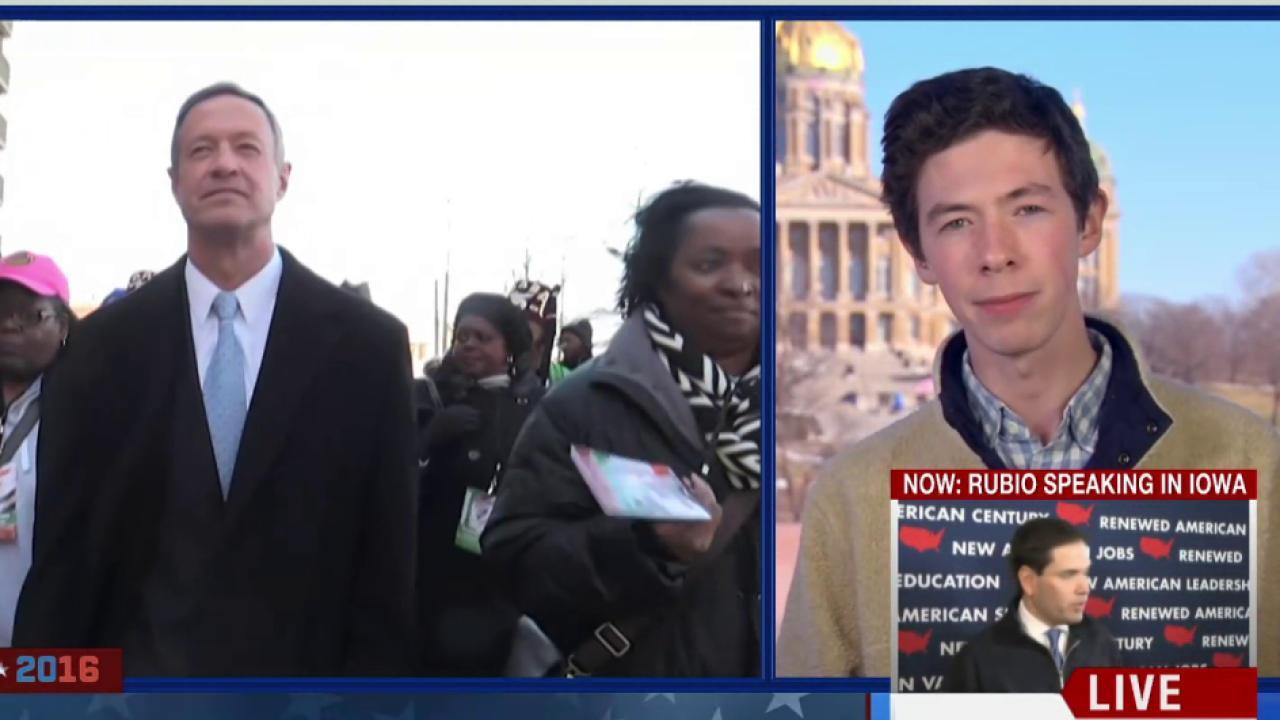 Son of Martin O'Malley speaks to MSNBC