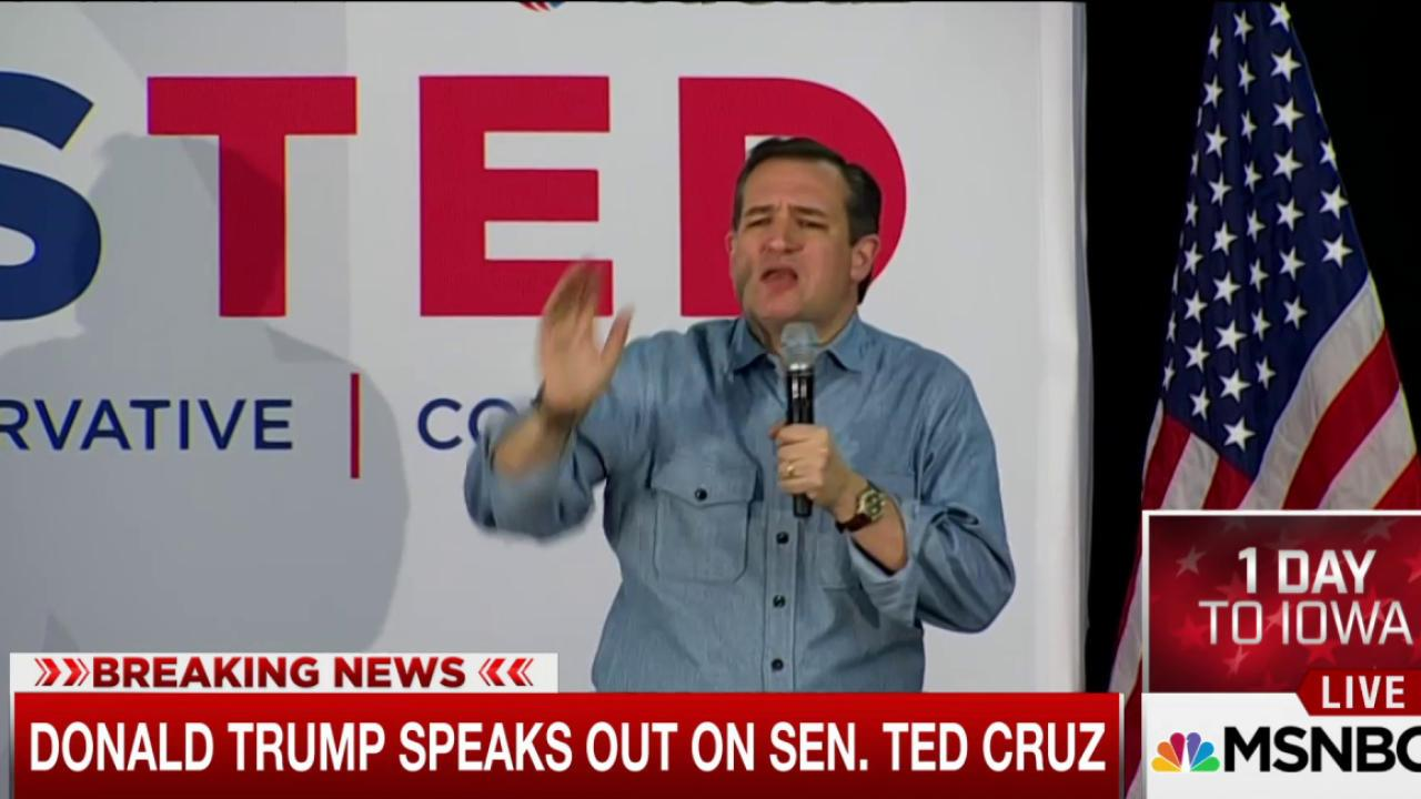 Trump: Cruz not allowed to serve as president