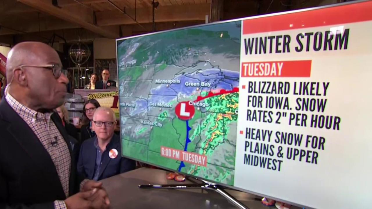 Blizzard Bearing Down on Midwest and Great Plains