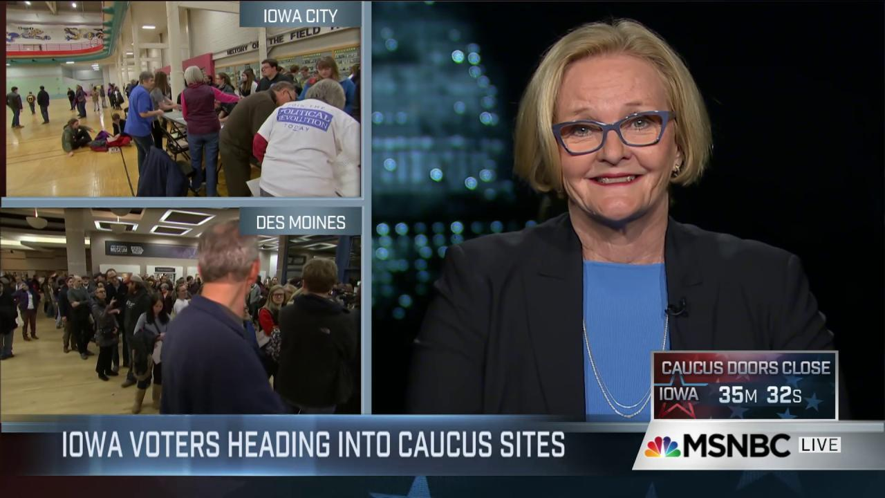McCaskill backs Clinton on standing up to GOP