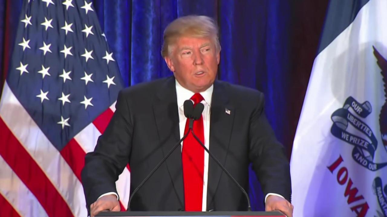 Trump: 'Iowa, we love you'
