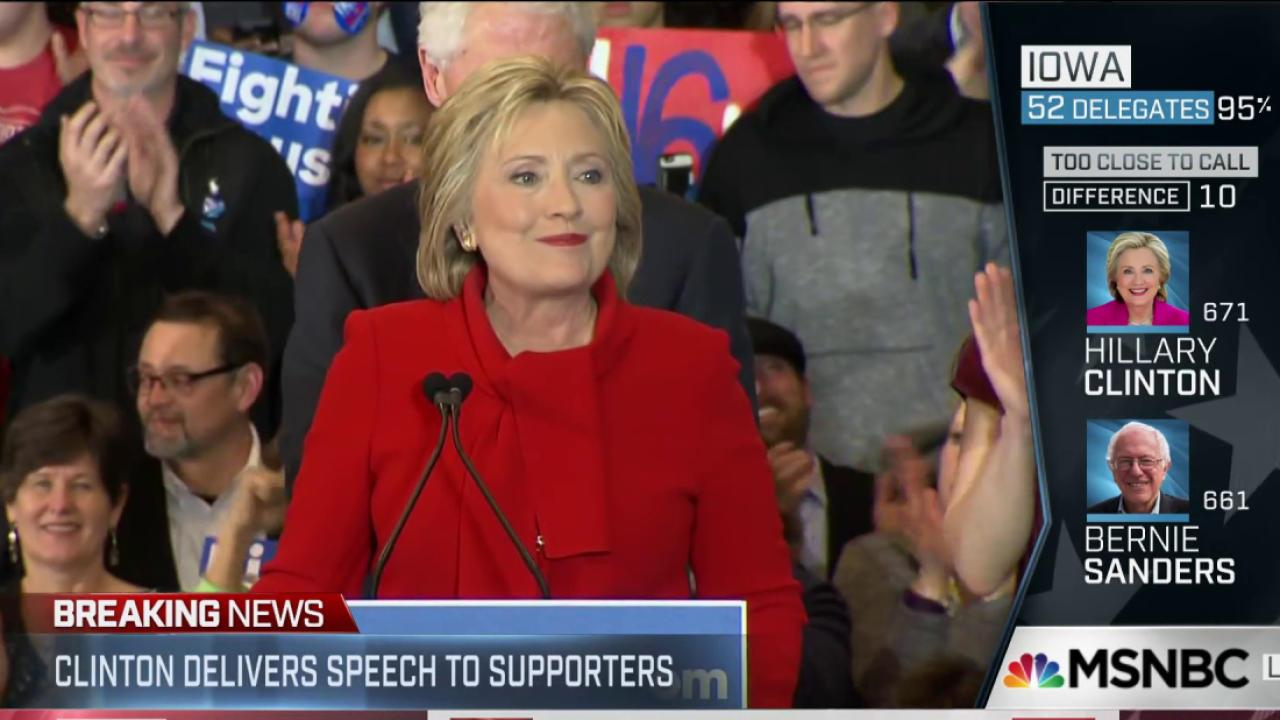 Clinton bewilders with quick victory claim