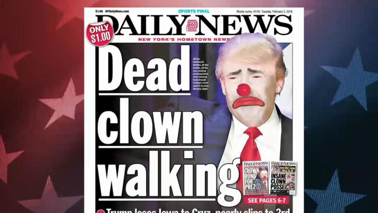 Trump breaks his silence after Iowa loss