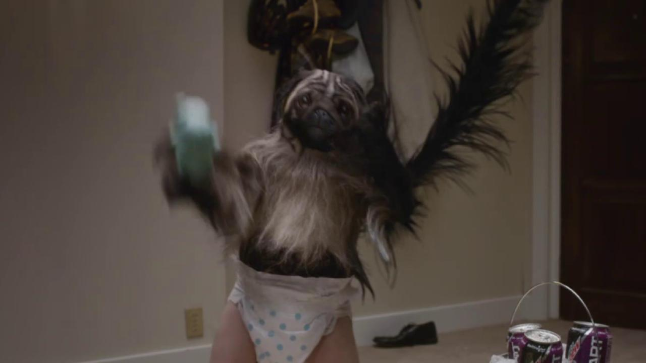 Puppy Monkey Baby Commercial A Human Animal Hybrid Shown 2