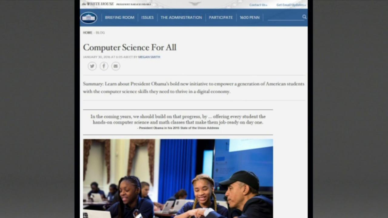 White House launches comp-sci initiative