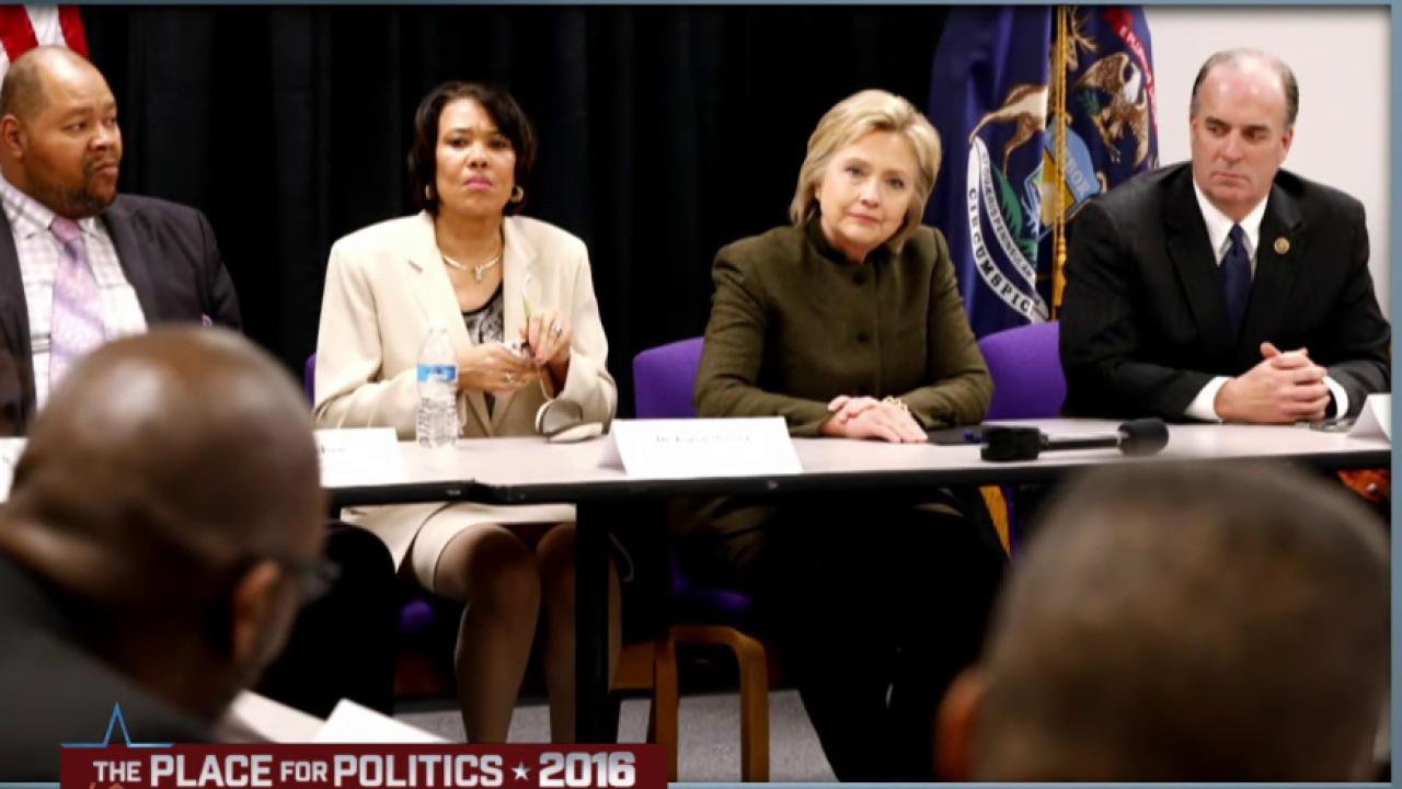 Mayor Weaver addresses Clinton's Flint visit