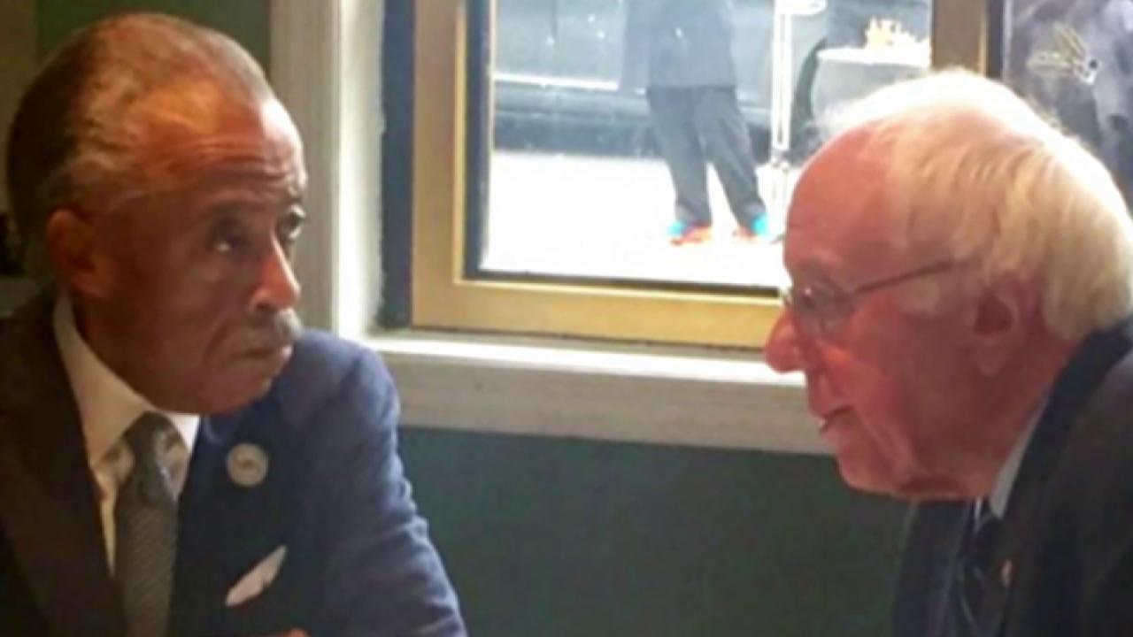 Sanders meets with Rev. Al Sharpton