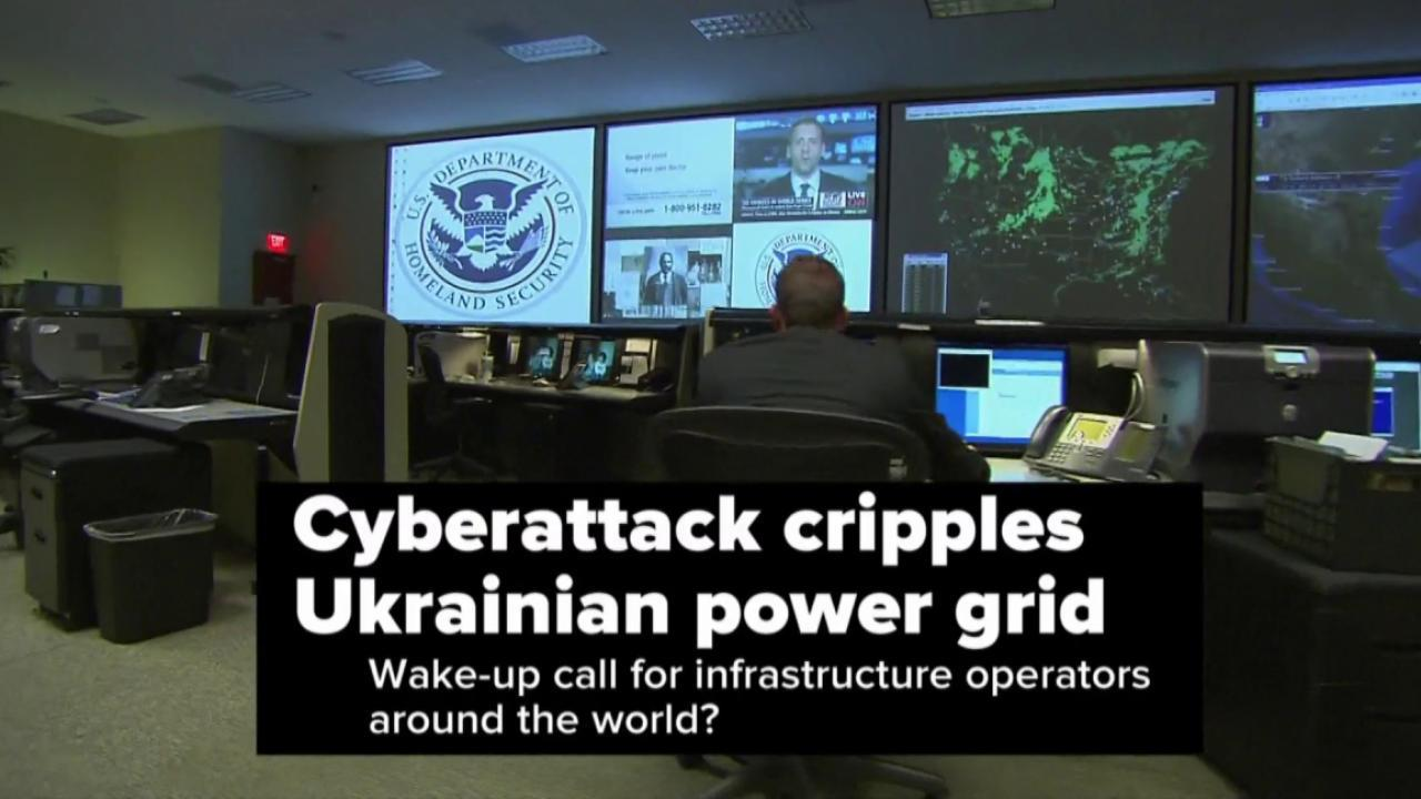 Cyberattack cripples Ukrainian power grid