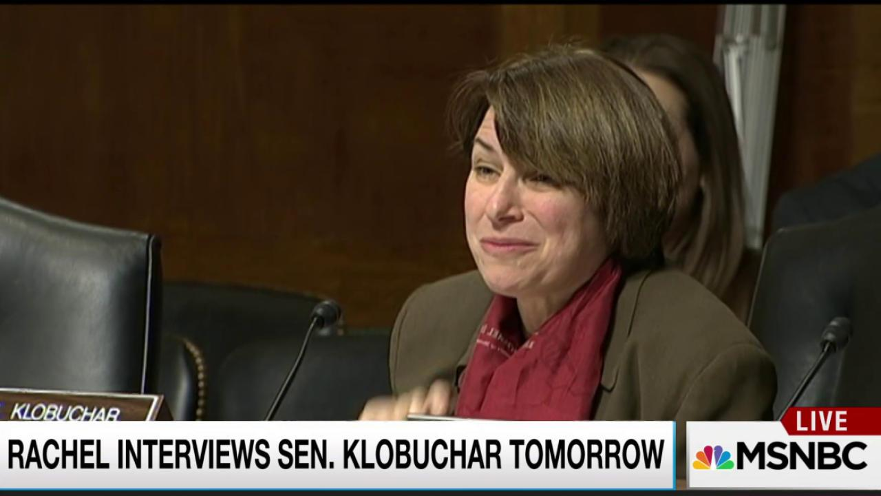 Eminently qualified Sen Klobuchar, Tuesday!