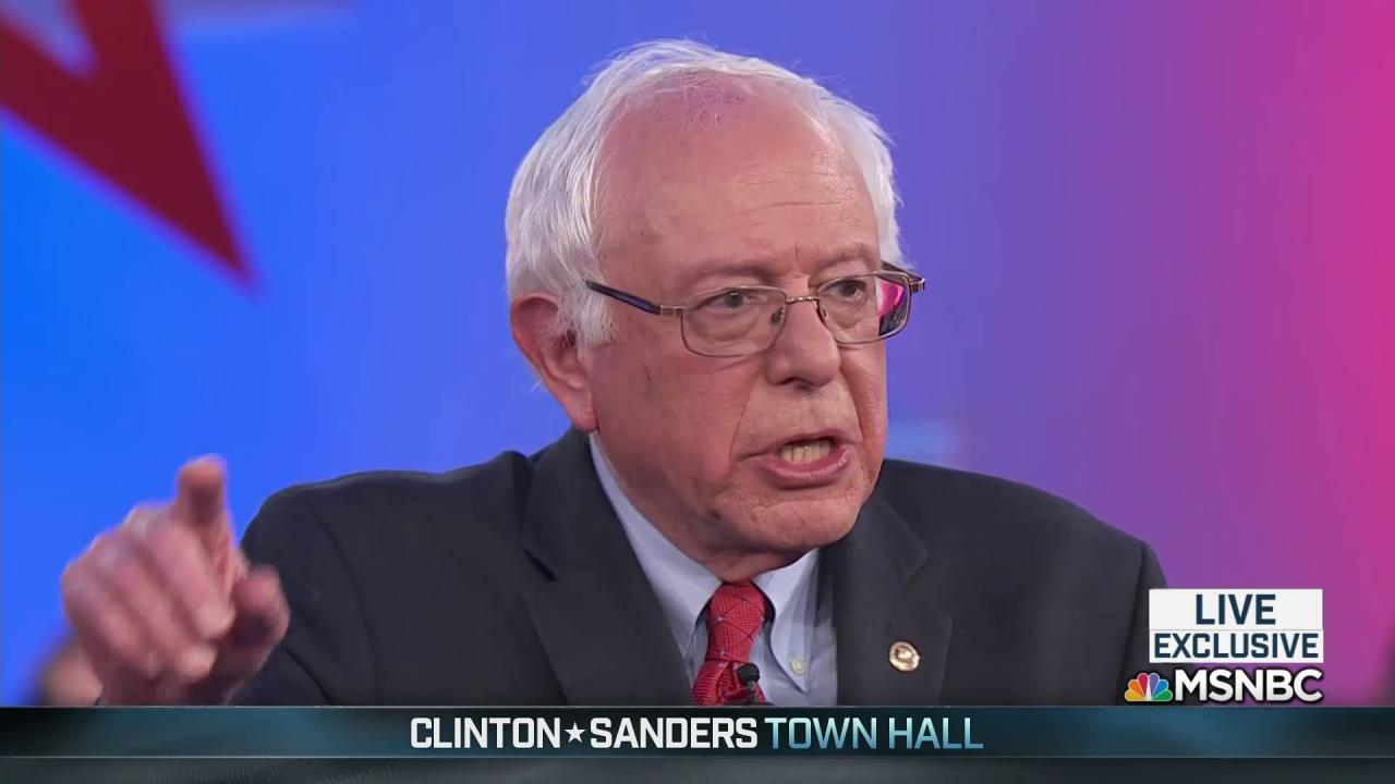 Sanders: we have to demilitarize the police