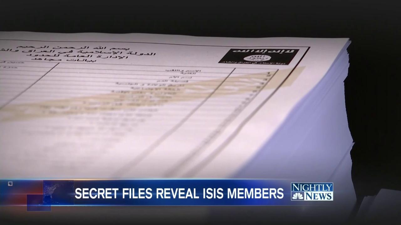 Leaked ISIS Personnel Files Paint Picture of Group's Recruits