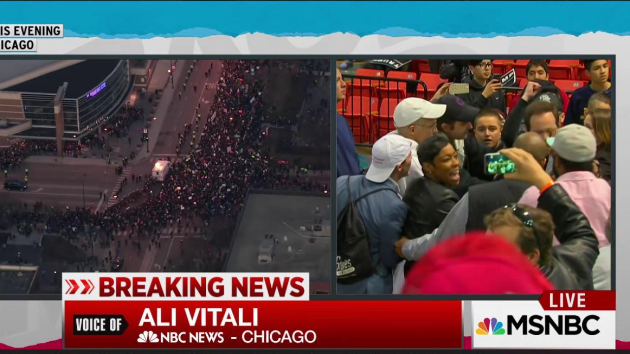 Chaos follows cancellation of Trump event