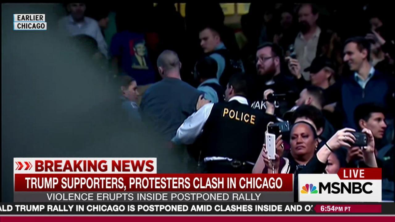 Calls to cancel Trump event preceded protest