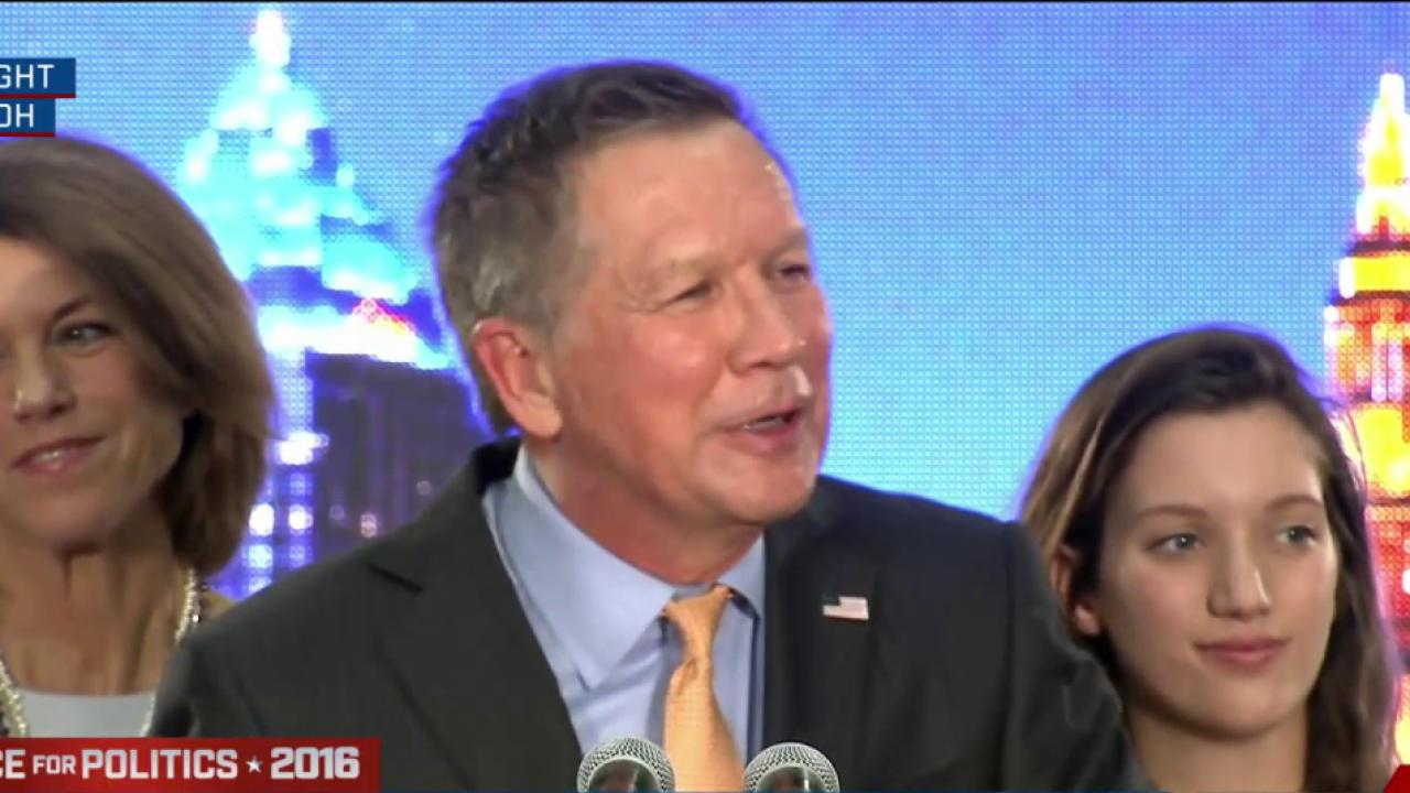John Kasich clinches home state of Ohio
