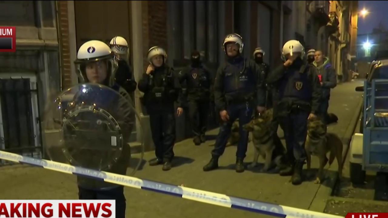 Two explosions heard near scene of raid