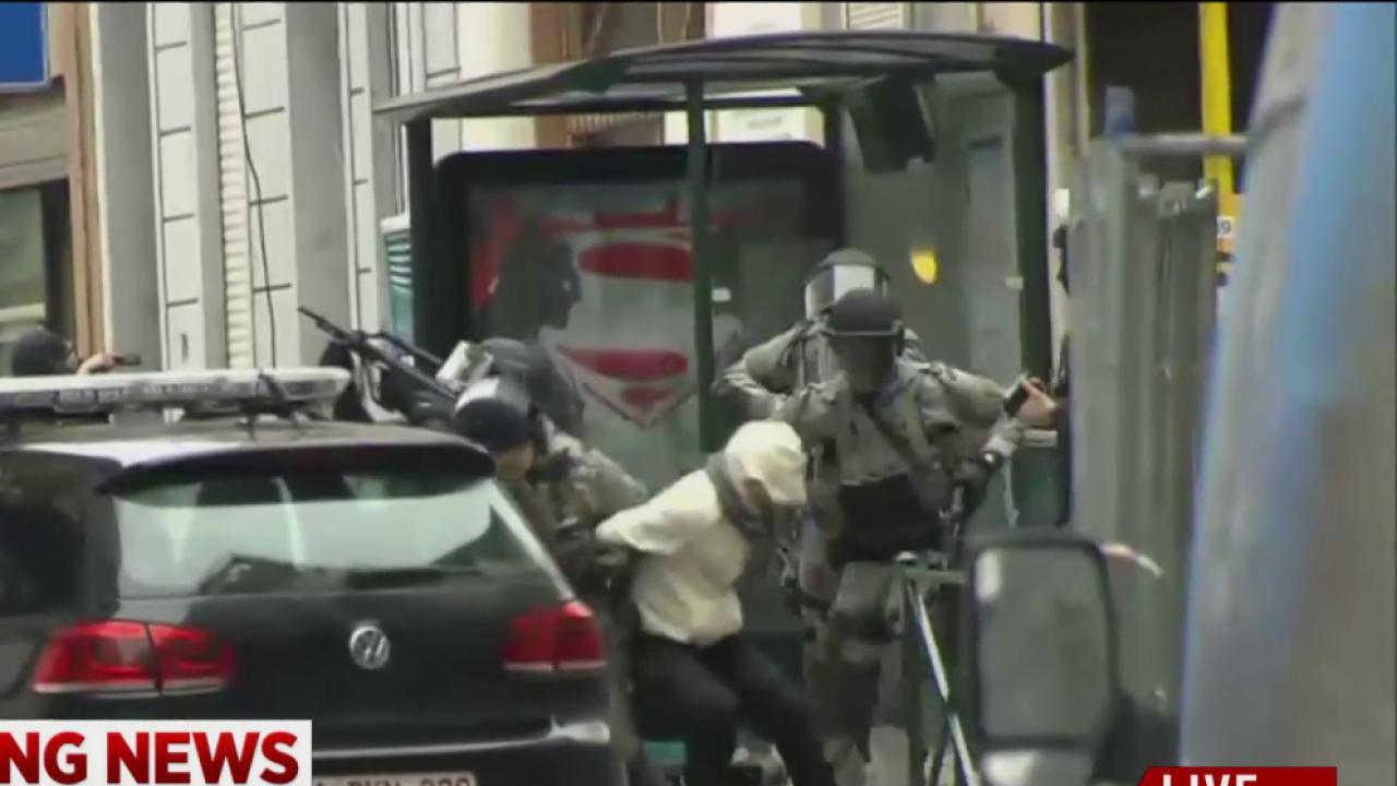 Video shows Belgian suspect being apprehended