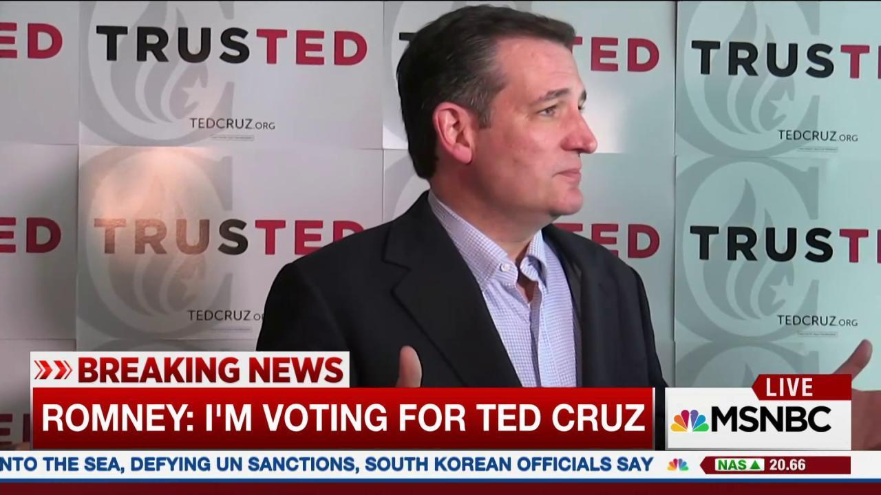 Romney voting for Cruz in Utah caucus